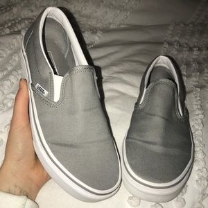 Light Grey Slip on Vans